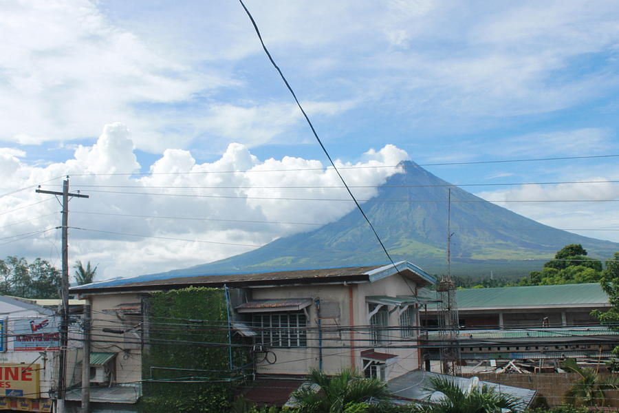 Mayon Photograph - Mayon In-front Of My House by Manuel Cadag
