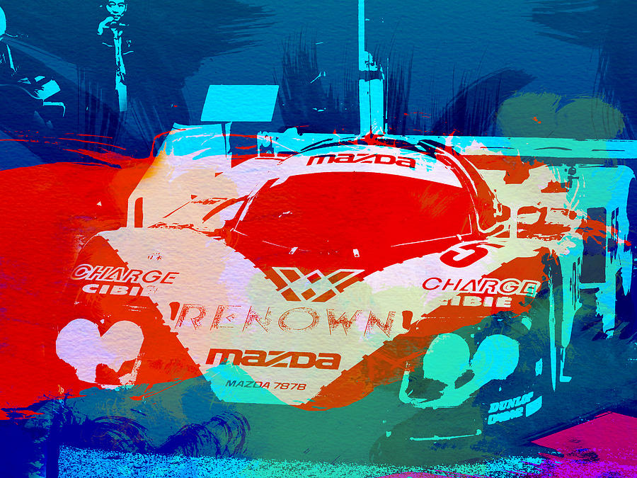 Mazda Painting - Mazda Le Mans by Naxart Studio