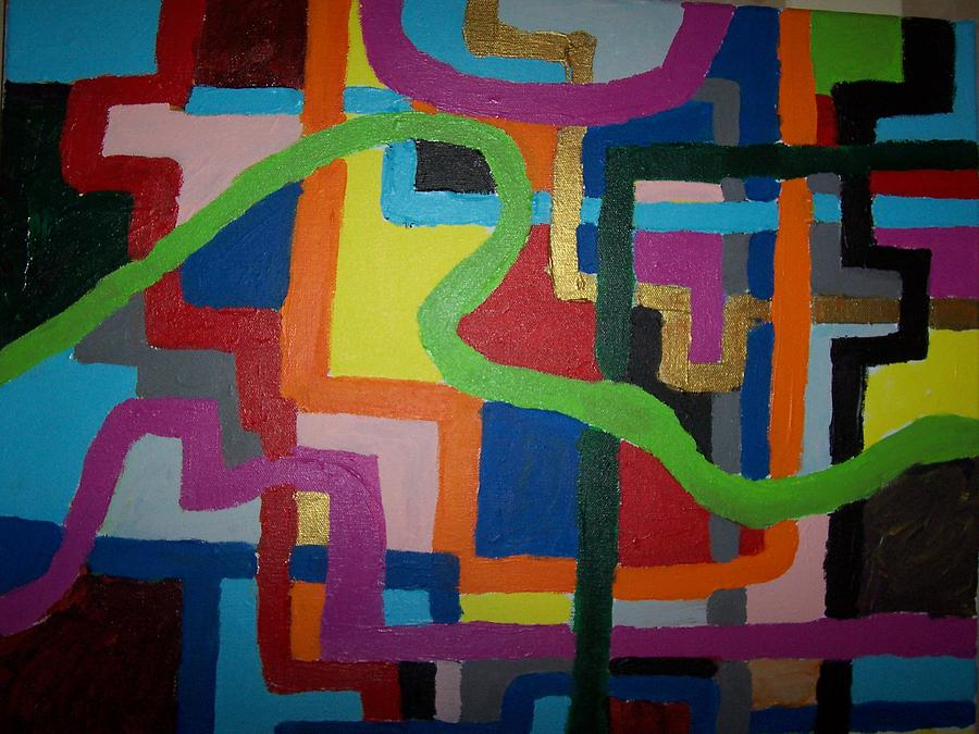 Maze 1 Painting by Dennis Young