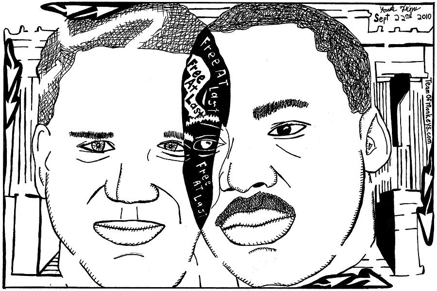 Maze Cartoon Of Mlk And Glenn Beck At Lincoln Memorial