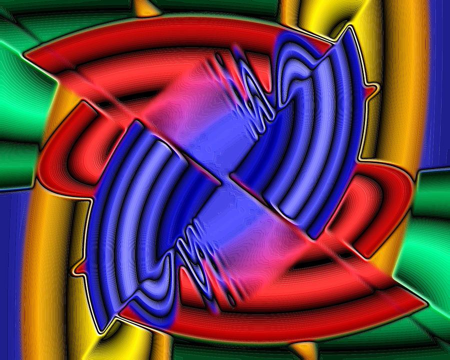 Abstract Digital Art - Maze by Darrell Foltz
