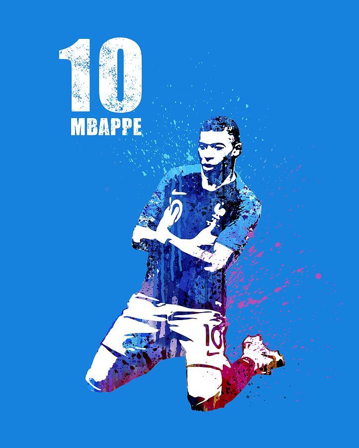 Mbappe On Blue