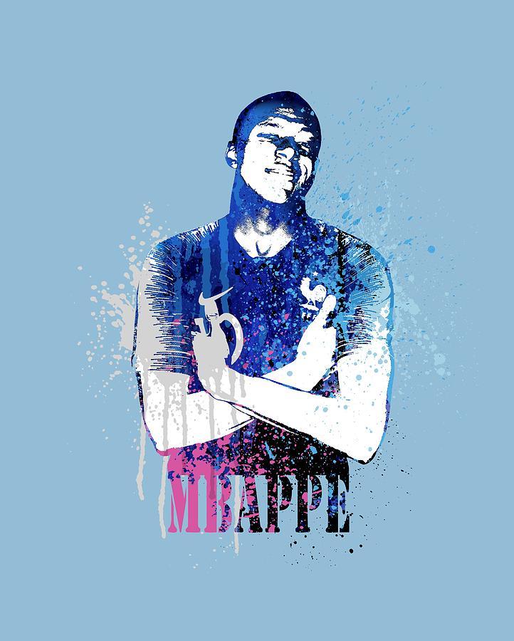 Mbappe On Light Blue World Cup 2018 France