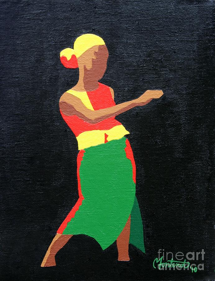 African Dance Painting - Mbili by Christine Fontenot
