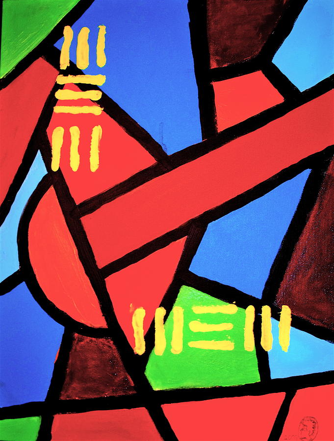 Malik Painting - Mbili by Malik Seneferu