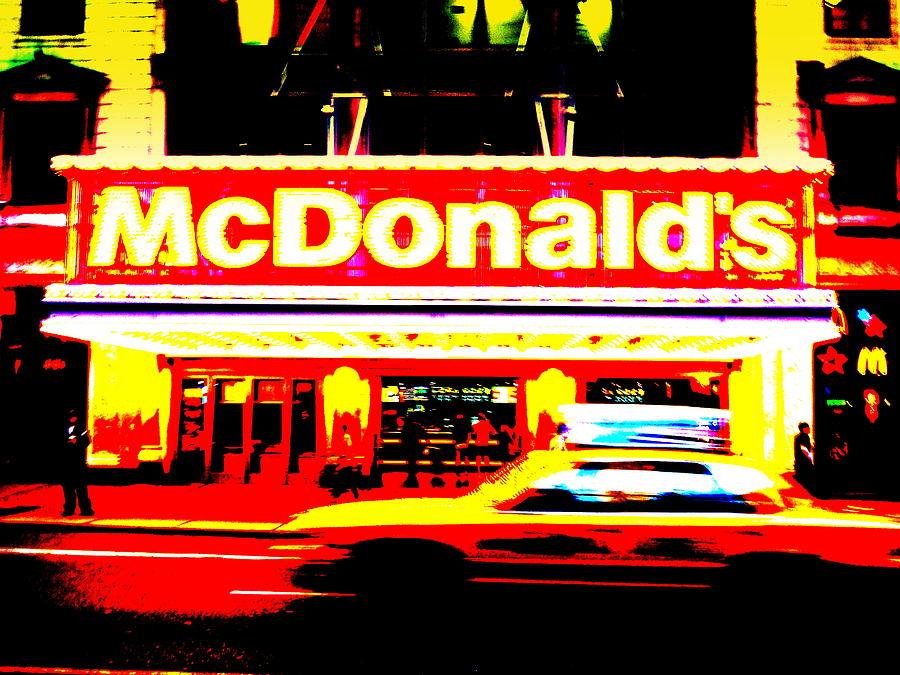 Broadway Photograph - Mc Donalds On Broadway  by Funkpix Photo Hunter
