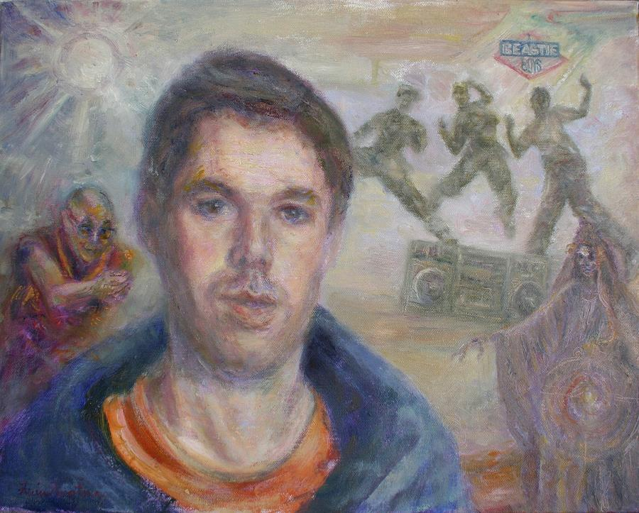 MCA is My Ace - Adam Yauch Tribute Painting by Quin Sweetman