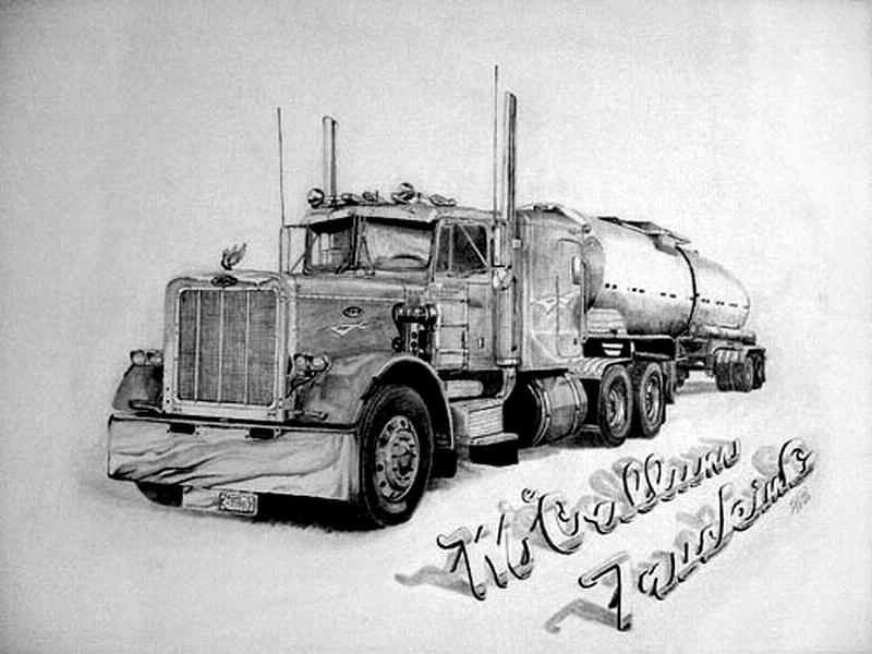 Mccallum Trucking Drawing By Dean Herbert