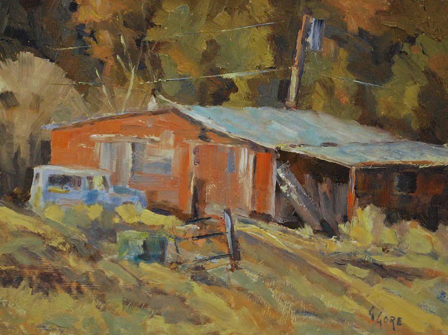 Barn Painting - Mccarthys Shed by Gary Gore