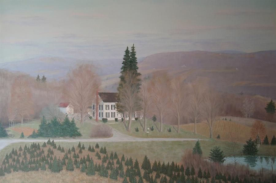 Mccarty Farm House Painting by Joseph Stevenson