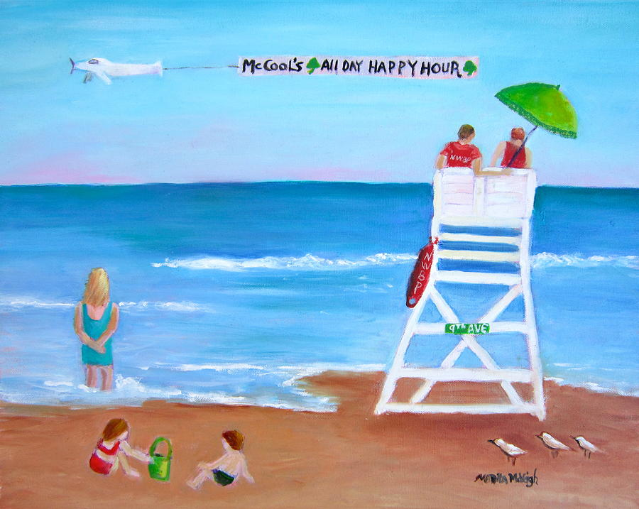 Beach Painting - Mccools All Day Happy Hour by Marita McVeigh