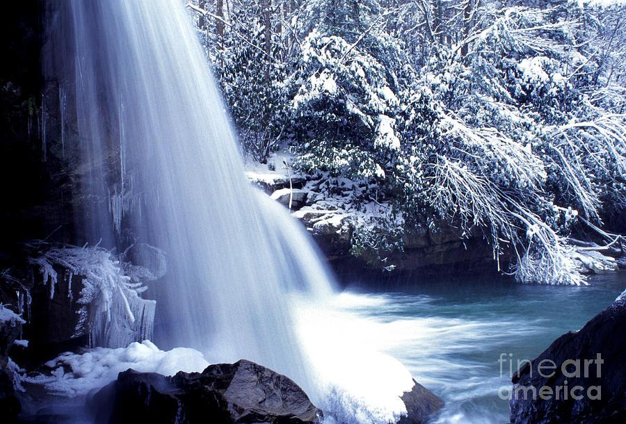 Birch River Photograph - Mccoy Falls In January by Thomas R Fletcher