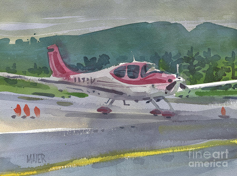 Mccullum Painting - Mccullum Airport by Donald Maier