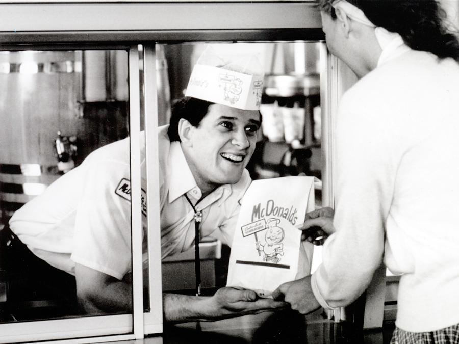 History Photograph - Mcdonalds Restaurant Crew Member by Everett