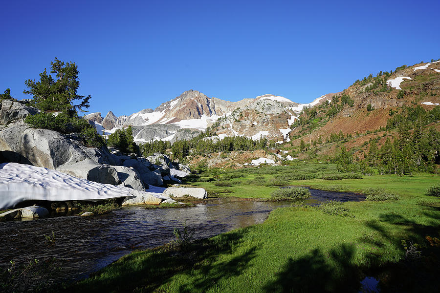 Landscape Photograph - Mcgee Creek Below Red And White Mountain by Dale Matson