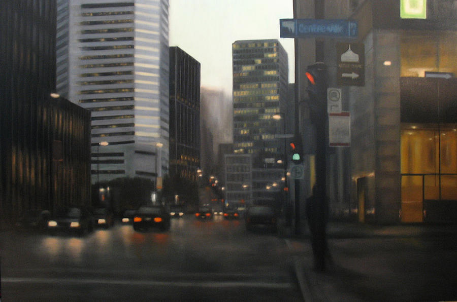 Montreal Painting - Mcgill Bus Stop by Sharon Ramsay