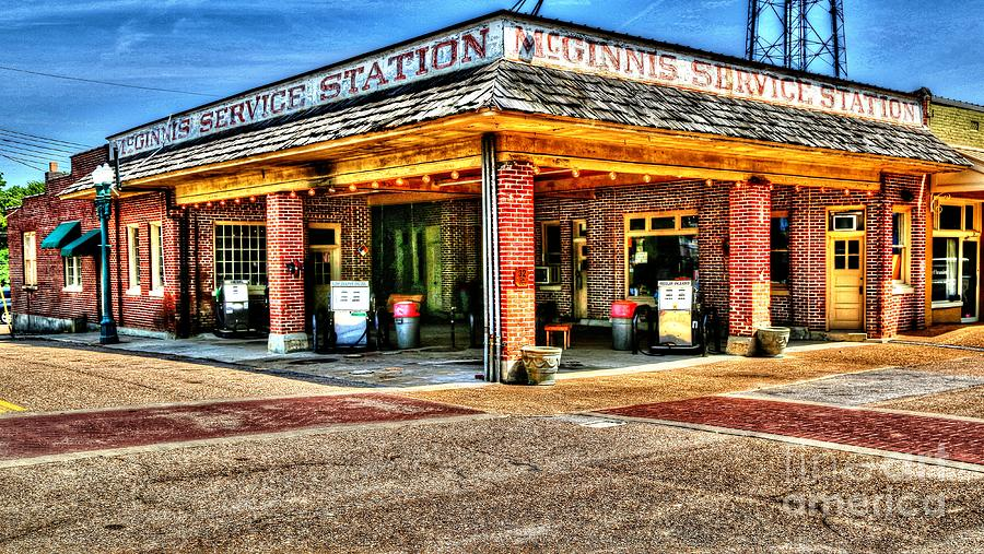 mcginnis service station collierville tn photograph by