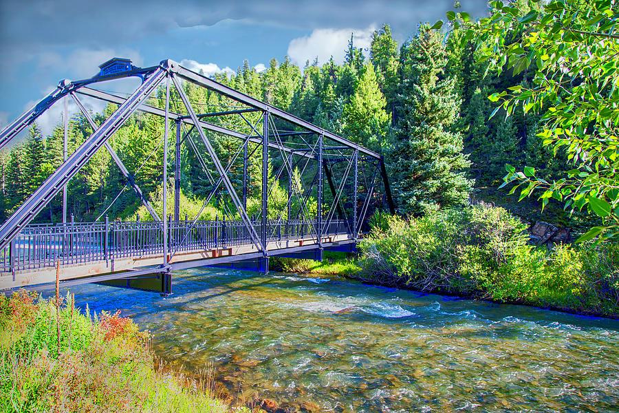 Bridge Photograph - Mcgraw Memorial Park Foot Bridge by Lorraine Baum