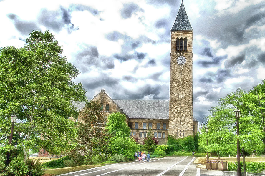 Cornell University Photograph - Mcgraw Tower Cornell University Ithaca New York Pa 10 by Thomas Woolworth