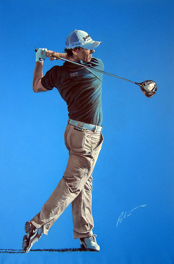Rory Mcilroy Painting - Mcilroy 2012 by Mark Robinson