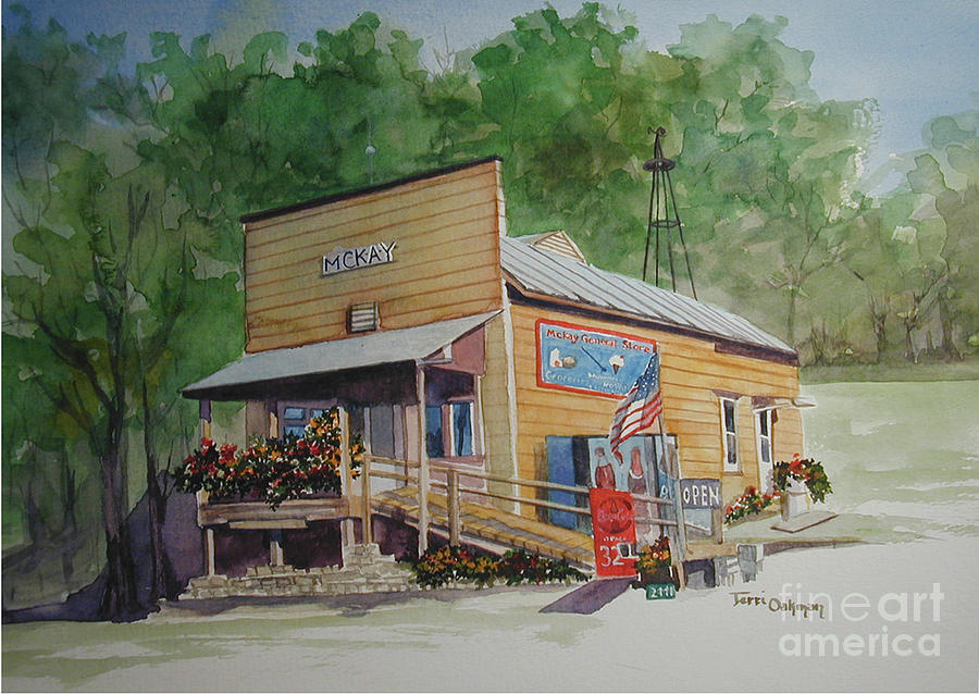 Mckays General Store Painting by Terri  Meyer