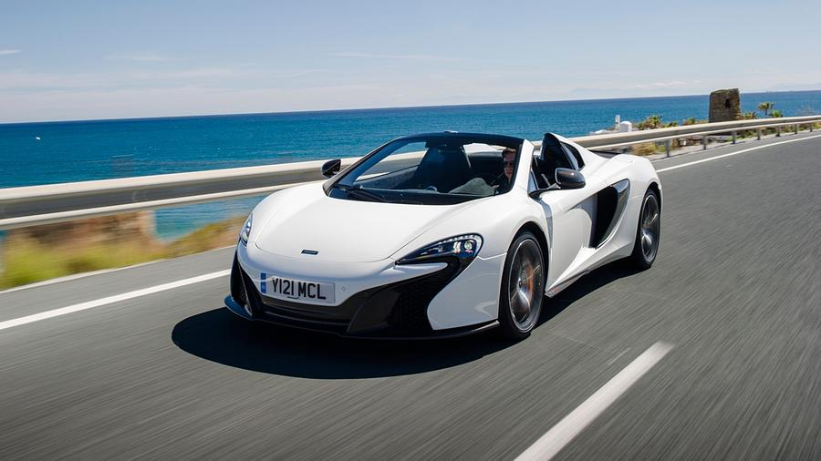 Car Digital Art - Mclaren 650s Spider by Dorothy Binder