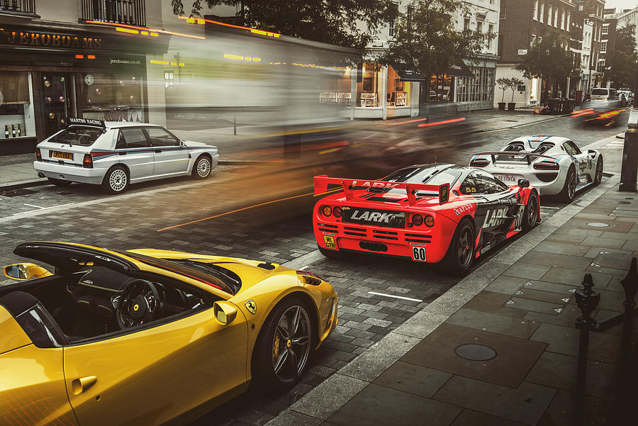 Mclaren Photograph - Mclaren F1 Gtr With Speciale And Integrale And 918 by George Williams