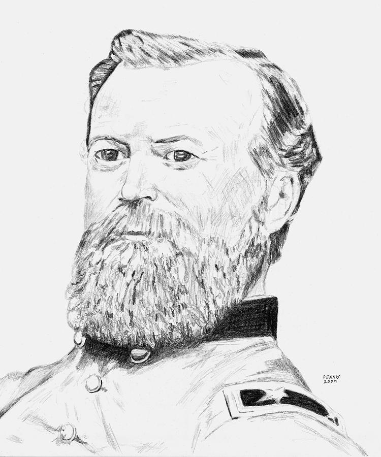 James Mcpherson Drawing - Mcpherson by Dennis Larson
