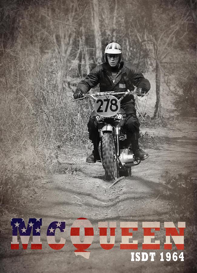 Steve Mcqueen Photograph - McQueen ISDT 1964 by Mark Rogan