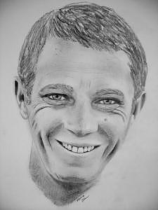 Mcqueen Drawing by Wayne Ratti