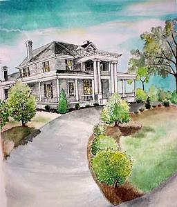 House Painting - Mcree House by Terri Kilpatrick