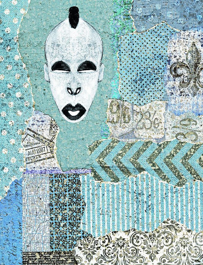 Mask Digital Art - Mdomo Mask Collage by Regina Wyatt