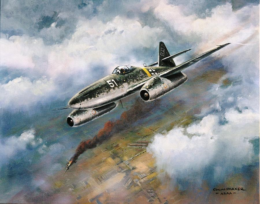 Me 262 Painting By Colin Parker
