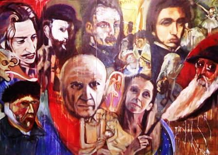 Picasso Painting - Me And Picasso And My Six Apostles by Kariena Kolisko