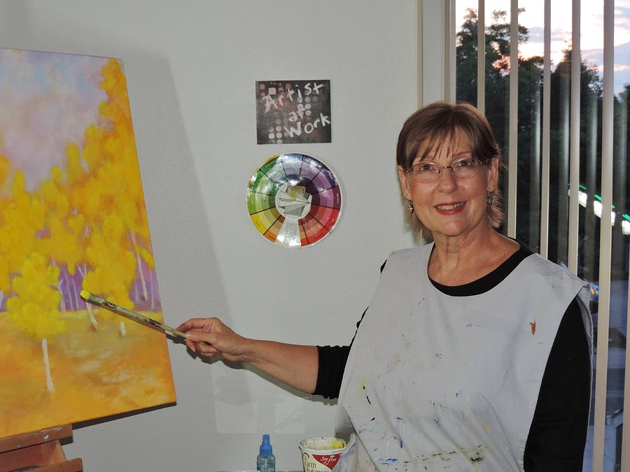 Me at work in the Studio by Margaret Bobb