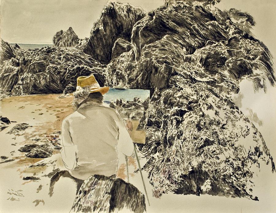 Me In Bretignolles Sur Mer Painting by Rainer Jacob