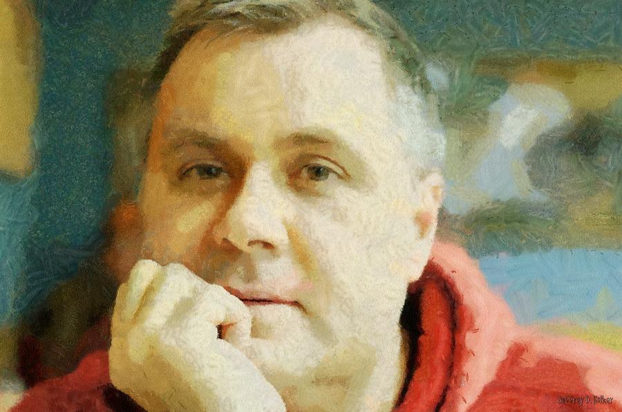 Self Portrait Painting - Me by Jeff Kolker