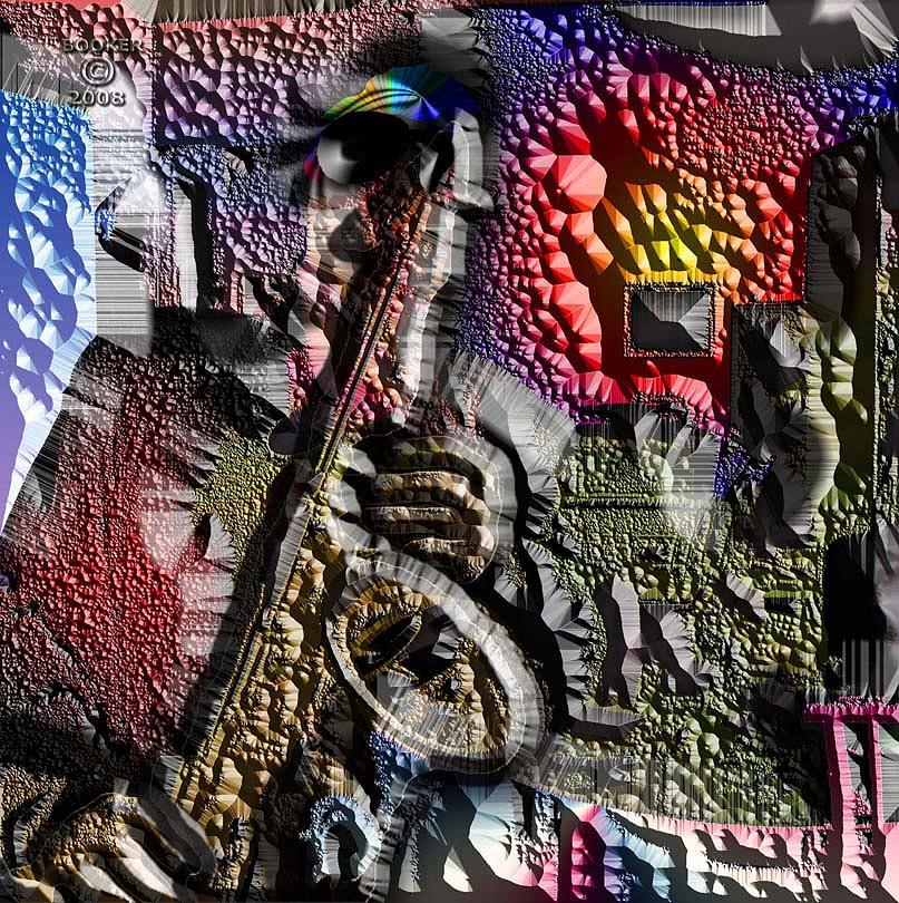 Jazz Mixed Media - Me On Sax by Booker Williams