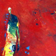 Abstract Painting - Me  You And Red  by Islam Kamil