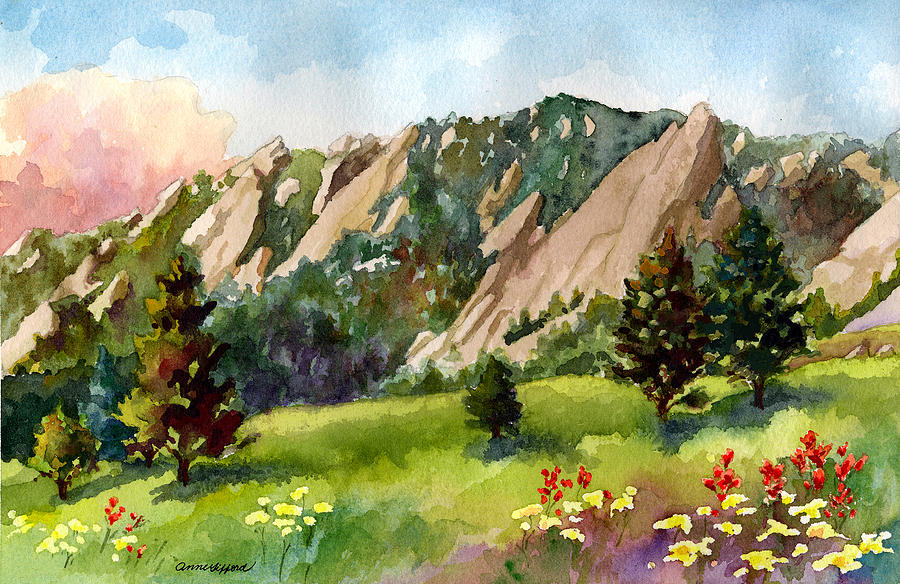 Meadow at Chautauqua Painting by Anne Gifford