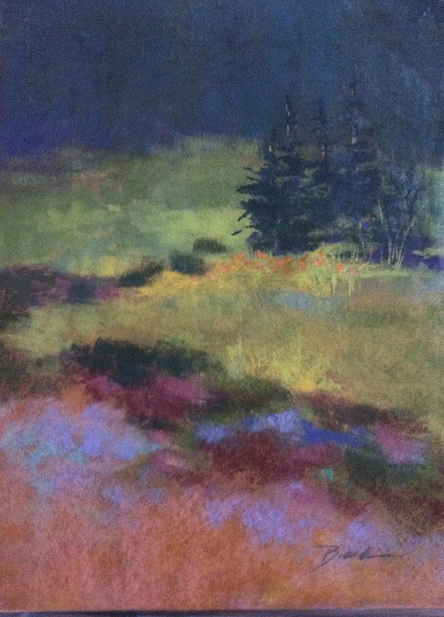 Meadow Painting - Meadow At Dusk by Janet Biondi