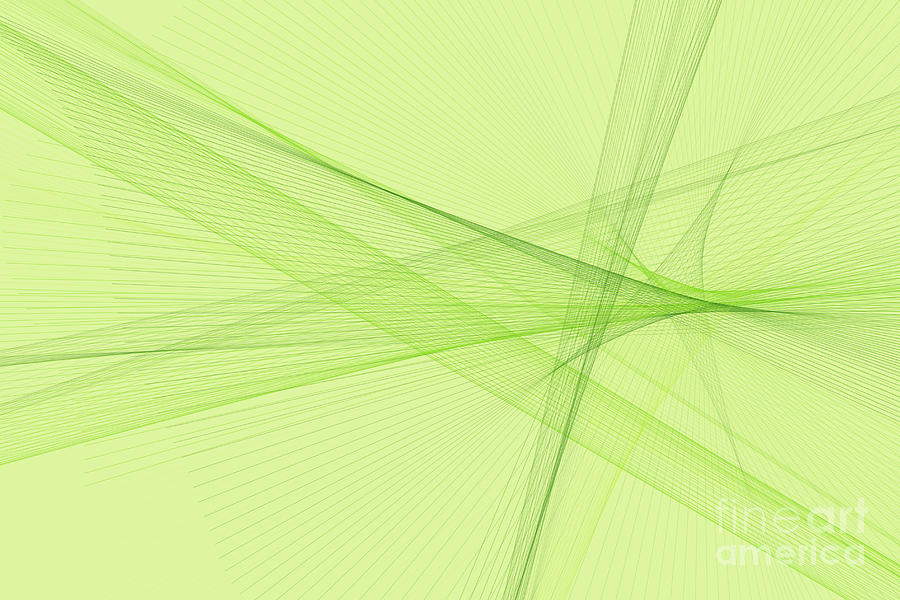 Abstract Digital Art - Meadow Computer Graphic Line Pattern by Frank Ramspott