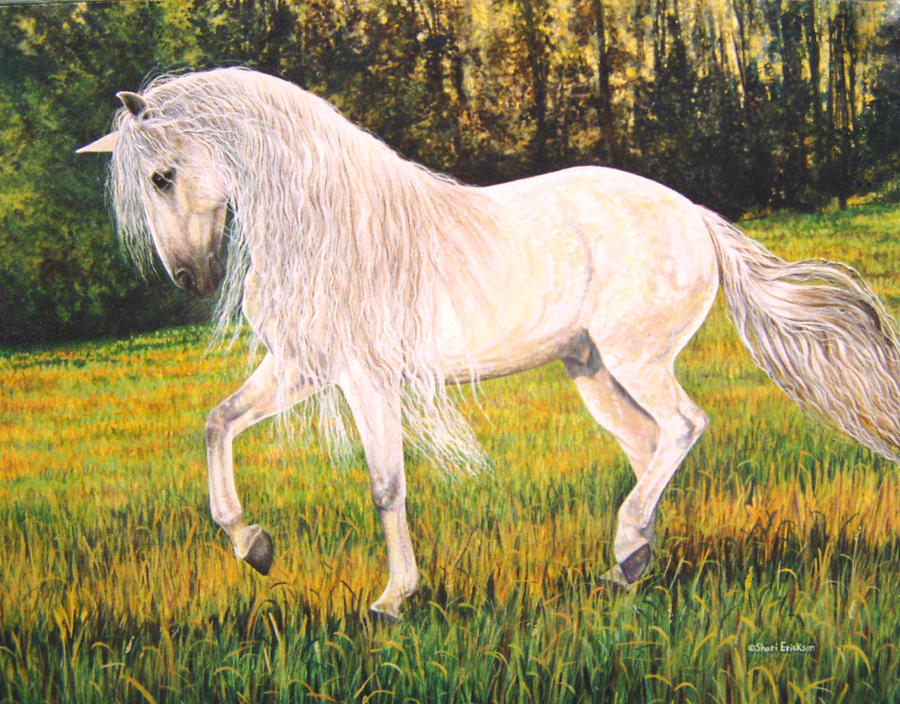 Andalusian Painting - Meadow Dance by Shari Erickson