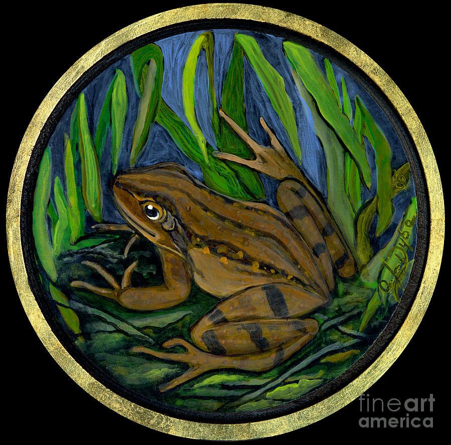 Rural Life Painting - Meadow Frog by Anna Folkartanna Maciejewska-Dyba