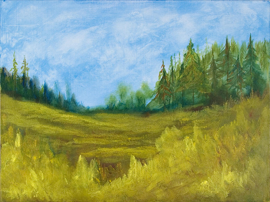 Meadow Painting - Meadow by Eugene Coderre