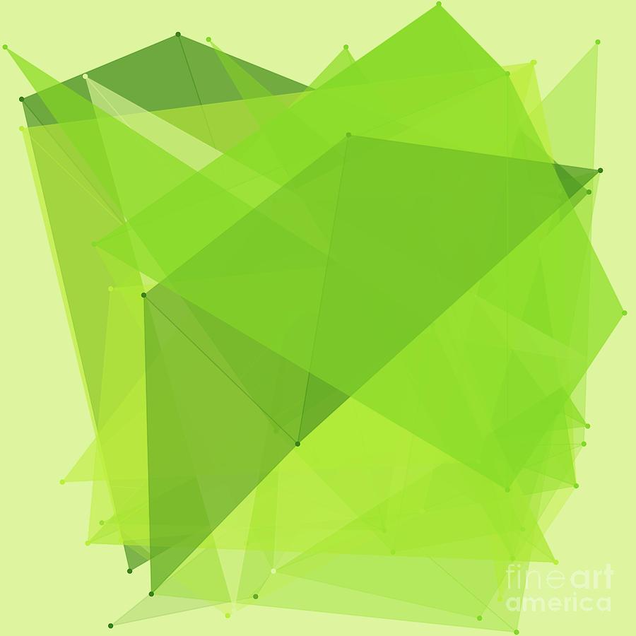 Abstract Digital Art - Meadow Polygon Pattern by Frank Ramspott