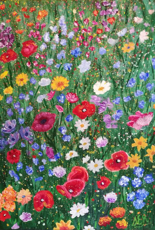 Flowers Painting - Meadow by Samantha E Rowley