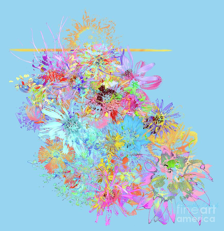 Meadow Digital Art - Meadow Sunrise by Dorothy Pugh