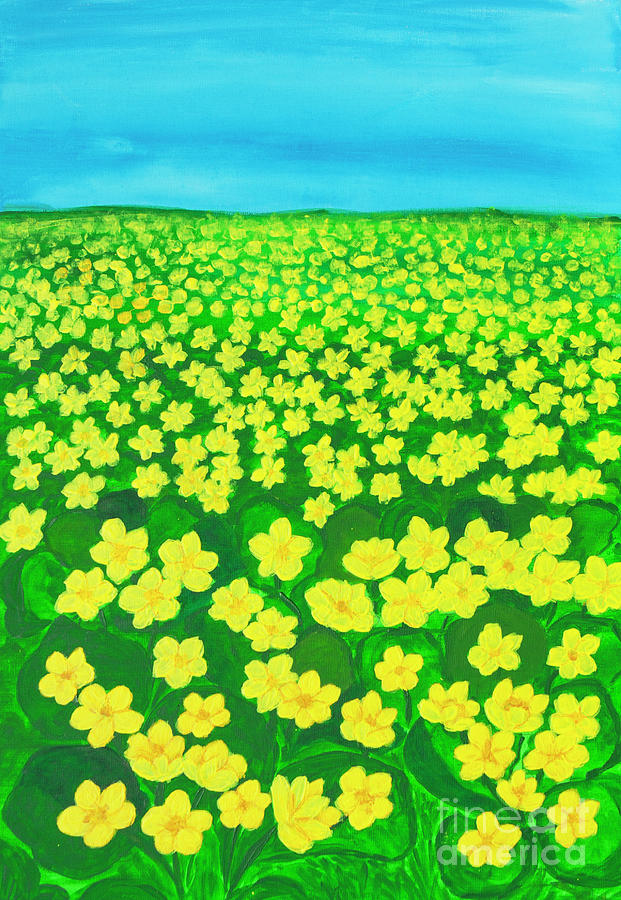 Meadow with buttercups by Irina Afonskaya