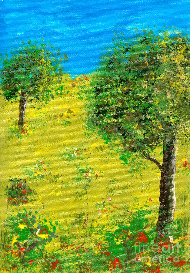Tree Painting - Meadow With Trees by Sascha Meyer